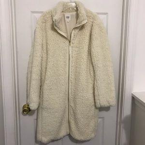 Gap cream Sherpa long jacket S